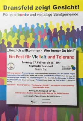 Plakat 3. Fest für Vielfalt und Toleranz
