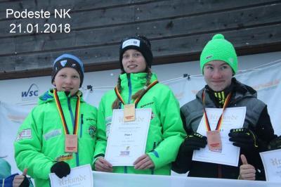 Foto zur Meldung: Fleißige Medaillensammler am Fichtelberg
