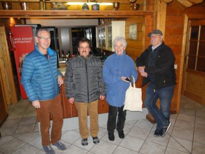 V. l. n. r. Ulrich Karwacki, Detmar Berara, Elisabeth Brings, Udo Brings