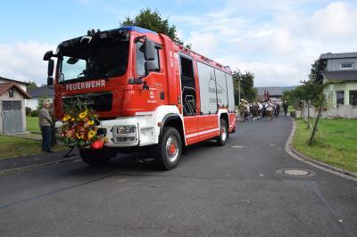 Das neue HLF bei der Einweihung am Backofenfest 2017 in Schondra