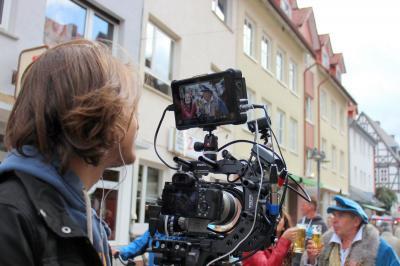 Imagefilm-Dreh anlässlich des Kupferstädter Bauernmarktes im September 2017