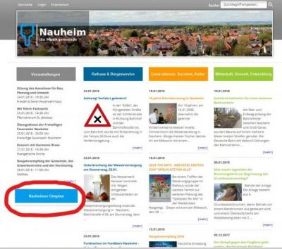 Foto zur Meldung: Neuer Service - Der interaktive Ortsplan der Gemeinde Nauheim ist online!