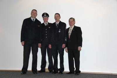 Vorschaubild zur Meldung: Bernd Hildebrand erhielt Feuerwehr-Ehrenkreuz in Silber