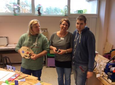Vorschaubild zur Meldung: Abschlussschüler der Jakob-Weber- Schule in der KoA-Klasse