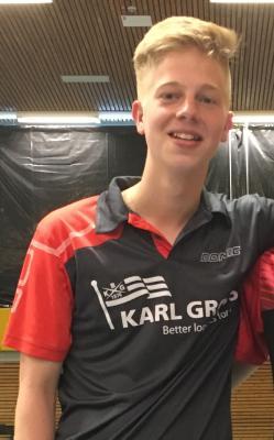 Vorschaubild zur Meldung: Finn Oestmann ist Vize-Landesmeister im Jungen-Doppel - Im Einzel in den Top 16