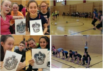 Foto zur Meldung: Hexenprojekt mit gelungenem Quidditch-Turnier in der Turnhalle