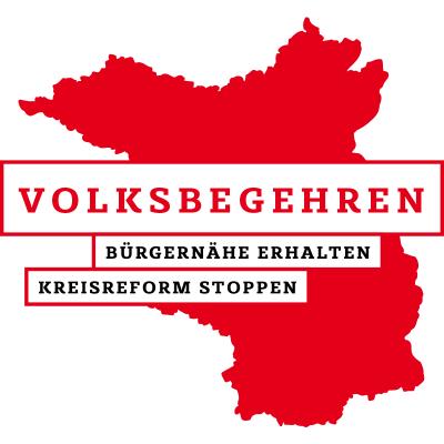 """Foto zur Meldung: Bekanntmachung der vorzeitigen Beendigung des Volksbegehrens """"Bürgernähe erhalten –  Kreisreform stoppen"""""""