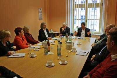 Foto zu Meldung: Finanzminister stellt Förderprogramm in Calau vor