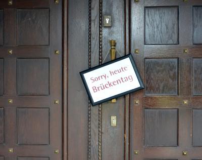 Vorschaubild zur Meldung: Am 30. April und 11. Mai ist das Rathaus geschlossen