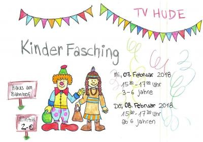 Vorschaubild zur Meldung: Übermorgen startet der große Kinderfasching des TV Hude - Einige Gruppen fallen zugunsten der Faschingsfeier aus