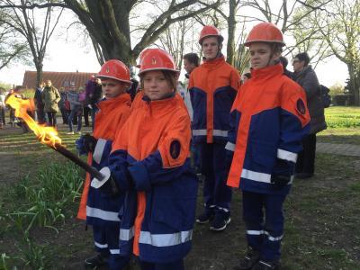 In Friedrichsthal sind auch die Jüngsten schon Feuer und Flamme.