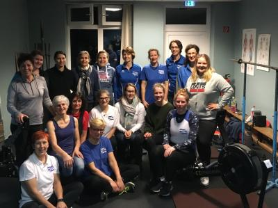 Vorschaubild zur Meldung: Von Berlin nach Zürich auf dem Ruderergometer Der Rüdersdorfer Ruderverein Kalkberge gewinnt die Women's Rowing Challenge