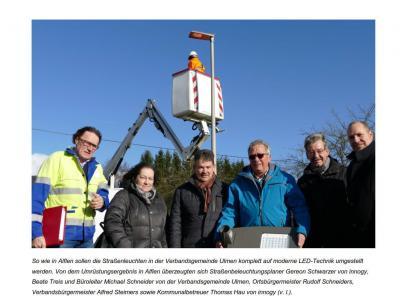 Vorschaubild zur Meldung: LED- Beleuchtung ersetzt alte Straßenbeleuchtung in Alflen
