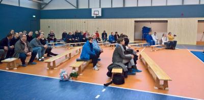 Foto zur Meldung: Einweihung der Rothenburger Sporthalle