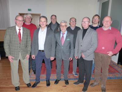 Von links nach rechts: Dr. Bernd Schwedes, Siegmund Lecybil, Matthias Vollmer, Werner Brandau, Harald Hohmann, Heinrich Lyding, Horst Steinbach, David Fichtner, H.J. Hebel