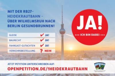 Vorschaubild zur Meldung: Heidekrautbahn: Online-Petition zum Ausbau der RB27