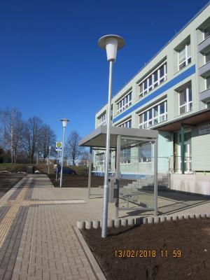 Foto zur Meldung: Neue Bushaltestelle im Ortsteil Welbsleben