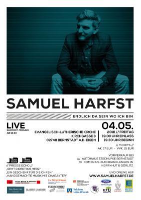 Vorschaubild zur Meldung: Konzert Samuel Harfst & Band am 04. Mai 2018 in Bernstadt