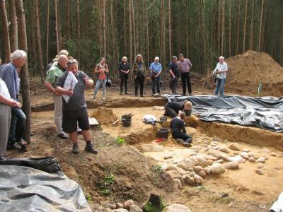 Öffentliche Grabungsführung am 3. August 2017 mit Jens May