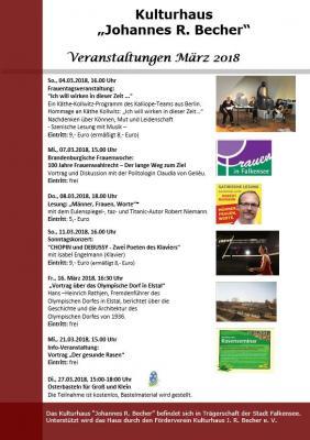 Foto zur Meldung: Veranstaltungen im März