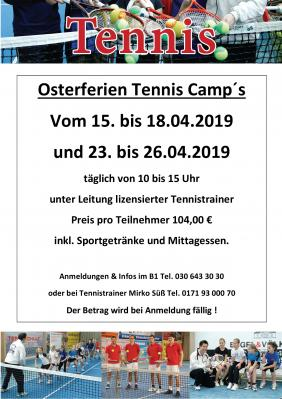 Vorschaubild zur Meldung: Tennis-Camp in den Osterferien