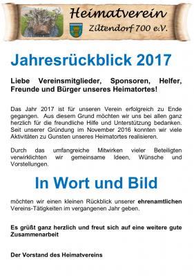 Foto zur Meldung: Jahresrückblick 2017 Heimatverein Ziltendorf 700 e.V.