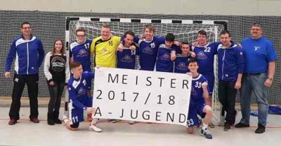 Foto zu Meldung: Handball aktuell: A-Jugend Jungs der JSG Buchberg Meister in der Bezirksliga, letztes Heimspiel am 03.03.2018 um 17.30Uhr in Niederrodenbach!