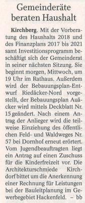 Auszug Der Bayerwald Bote 27.02.2018
