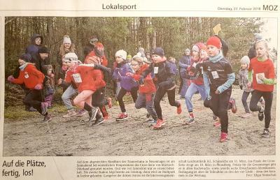 Foto zur Meldung: Leichtathletik: Cross-Lauf ist gut gestartet
