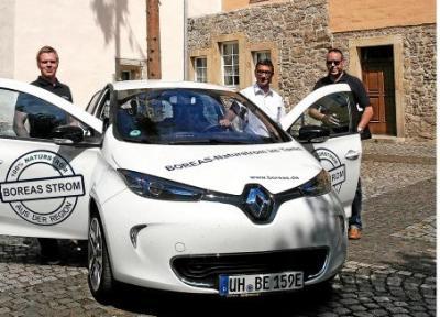 2017 stellte Boreas der Verwaltungsgemeinschaft ein Elektroauto zur Verfügung. Ob ein eigenes angeschafft wird, das soll jetzt noch einmal genau überprüft werden. Archiv-Foto: Friedemann Mertin