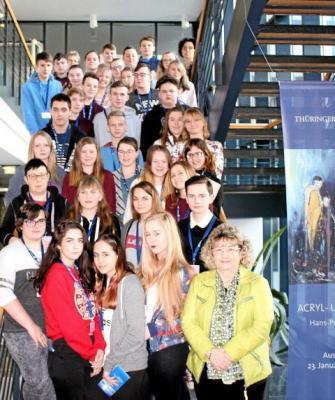 Foto zur Meldung: Realschüler zu Besuch im Landtag