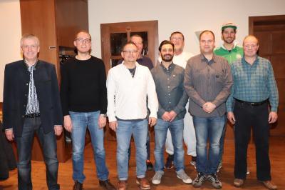 v. l.  Eckhard Mutz, Jonas Ott, Andreas Becker, Rainer Schmidt, Godwin Vella, Ingo Hepp, René Wege, Florian Sänger und Armin Schlesinger.