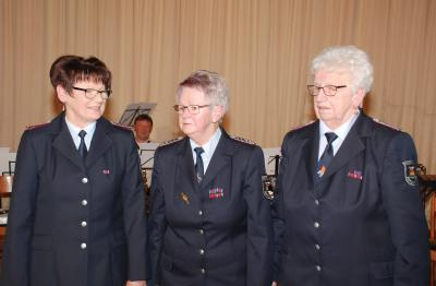 v.l.n.r.: Eveline Dreißing, Wanda Wahn, Irene Romey