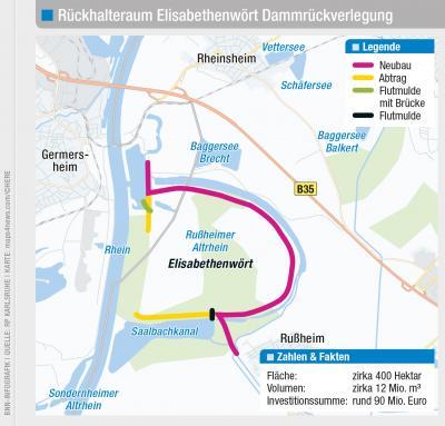 Vorschaubild zur Meldung: Umweltministerium gibt Variantenentscheidung für den Rückhalteraum Elisabethenwört bekannt