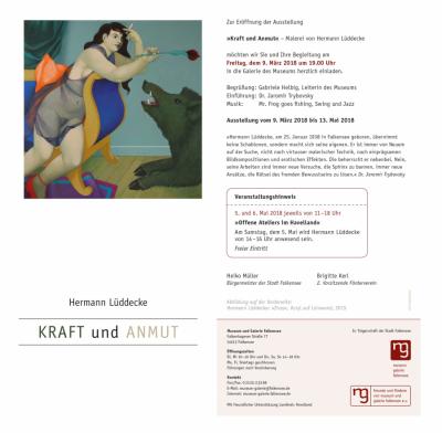 """Ausstellungseröffnung: Museum und Galerie Falkensee zeigt """"Kraft und Anmut"""" - Malerei von Hermann Lüddecke"""