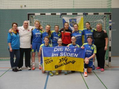 Vorschaubild zur Meldung: Handball Oberliga-Süd wC:  JSG Buchberg erneut Meister; Hessenmeisterschaft am 18.03.2017 in Grossostheim
