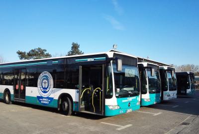 Noch ist die Flotte der Stadtverkehr Maintal GmbH mit einem klassischen Dieselantrieb unterwegs. Doch auf der Strecke der Linie MKK 22 der Stadtverkehr Maintal GmbH (SVM) soll perspektivisch ein Elektrobus eingesetzt werden