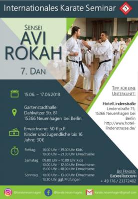 Foto zur Meldung: Seminar mit Sensei Avi Rokah 15.6.-17.6.