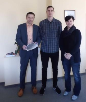 v.l.n.r.: Göran Schrey, Hannes Kieslich, Anja Heller