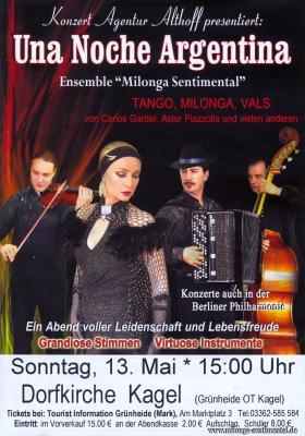 """Vorschaubild zur Meldung: Kartenvorverkauf: """"Argentinische Klänge"""" (Konzert in Kagel)"""