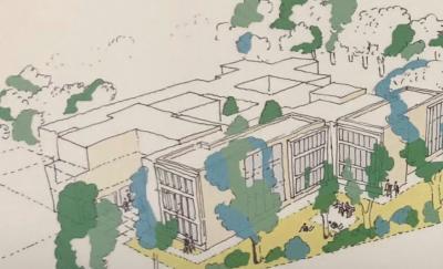 Grundsteinlegung für das neue Gebäude