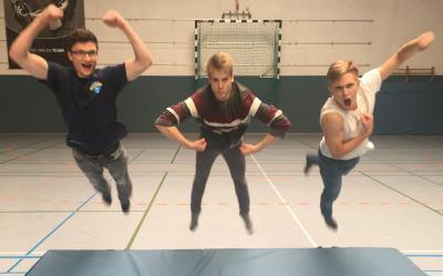 Jonas, Janne und Justus (von links)