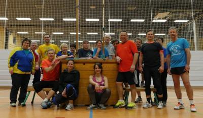Alle Beteiligten des Athletik-MK: Athleten und Karis