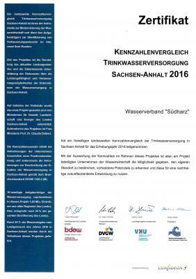 Vorschaubild zur Meldung: Teilnahme Kennziffernvergleich Trinkwasser 2016