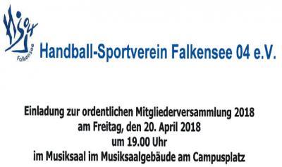 Foto zu Meldung: Einladung zur ordentlichen Mitgliederversammlung 2018 des HSV Falkensee 04