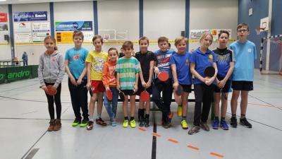 Foto zur Meldung: Unsere Kinder nahmen am Kreisausscheid Elbe-Elster im Tischtennis teil