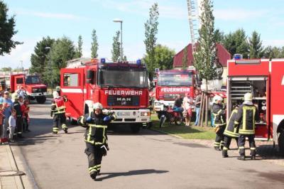 Foto zur Meldung: Osterübung der Feuerwehr Calau