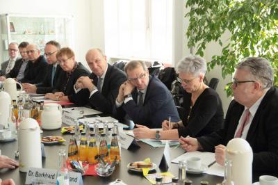 Präsidenten der LFB-Mitgliedsorganisationen mit Ministerpräsident Dr. Dietmar Woidke