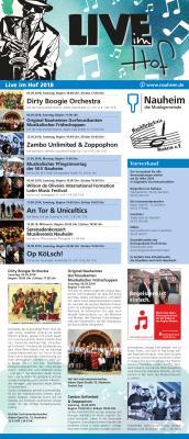 """Foto zur Meldung: Die Flyer für """"Live im Hof 2018"""" sind da! Vorverkauf ab 26. März"""