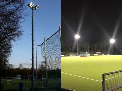 Vorschaubild zur Meldung: Neues LED-Flutlicht mit Unterstützung der ptj